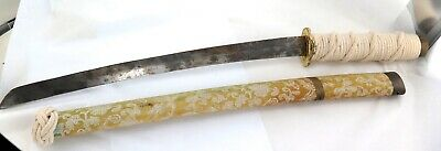 .A Good Vintage Reproduction Japanese Samurai Sword & Cloth Covered Saya