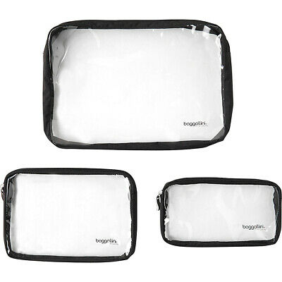 baggallini Clear Travel Pouches 4 Colors Toiletry Kit NEW