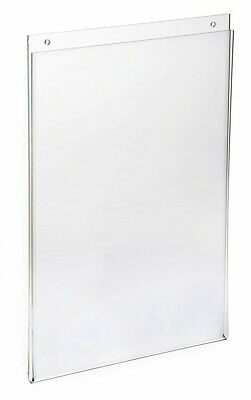 "Store Display Fixtures 3 NEW ACRYLIC WALL MOUNT SIGN HOLDERS 11"" H X 7"" W"