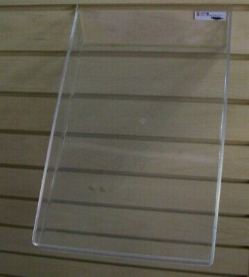 """Store Display Fixtures NEW SLATWALL ACRYLIC SLOPING TRAY 9""""W X 14""""L WITH 1"""" LIP"""
