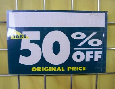 """Store Display Fixtures NEW ACRYLIC GRIDWIRE SIGN HOLDER 11"""" WIDE x 7"""" TALL"""