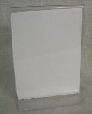"Store Display Fixtures 3 ACRYLIC SIGN HOLDER 7"" TALL X 5"" WIDE Free Standing"