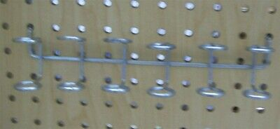 Store Display Fixtures 5 NEW PEGBOARD 6 HOLE TOOL HOLDERS