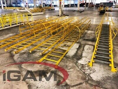 """Used 18' X 30"""" Steel Safety Ladder - 5 Available"""
