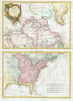 1783 Partie de L'Amerique Septentionale MAPS NORTH AMERICA CANADA COLONIES  (JM)