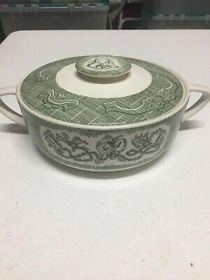 Old Curiosity Shop Royal China Green Casserole with Lid, Royal China MISTAKE