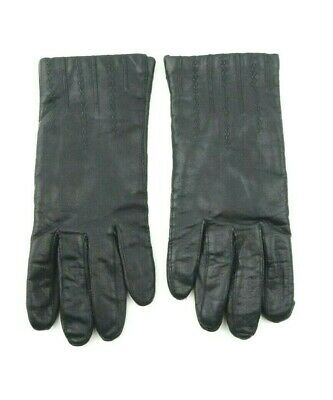 Fownes Women's Gloves Acrylic Lined Genuine Leather Size 7.5 Black