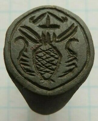 Ancient Bronze Signet Ring  Middle Ages