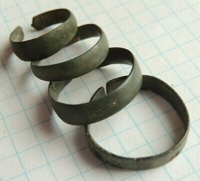 Ancient bronze viking rings without dimensional