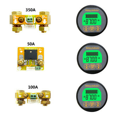 Ammeter Battery Monitor Tools Replacement DC 0-80V0-350A Volt Portable