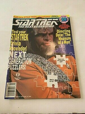 1992 Star Trek Magazine The Next Generation September