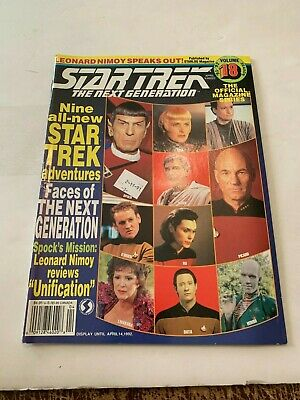 1992 Star Trek Magazine The Next Generation April