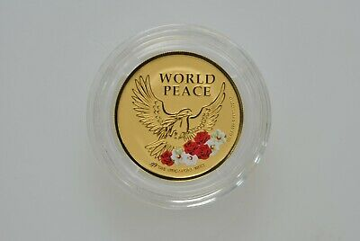 2018 Singapore US Korea Summit 1/2 oz Gold Proof Medal World Peace Coin Bullion