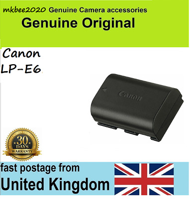 Genuine Original Canon LP-E6 Battery Pack, EOS 6D 7D 60D 70D 5D Mark II III 2 3