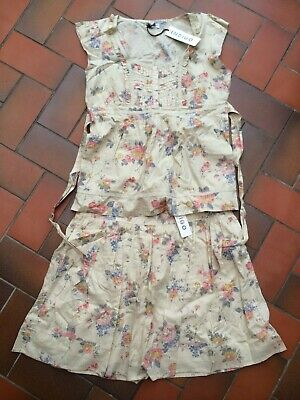 Nwt Marks & Spencer Indigo Collection Floral Top & Matching Skirt - Size 16