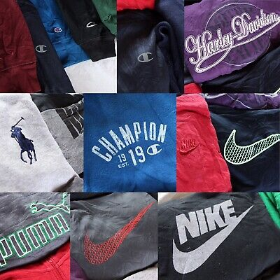 Wholesale Vintage Branded Sportswear Bundle 20x Hoodie Hooded Sweater Job Lot