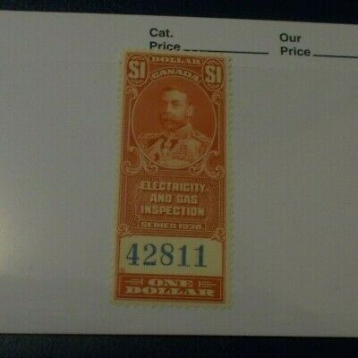 Canada Mint Stamp Back Of The Book BOB Electricity & Gas Inspection One Dollar 1