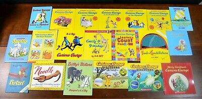 Lot 20 Curious George Picture Books by H.A. Rey Toddler Learning Homeschool L1