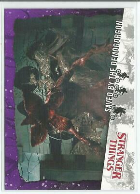 Topps Stranger Things Welcome To The Upside Down Saved By The Demogorgon #1/25