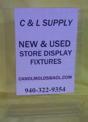 """Store Displays NEW ACRYLIC TWO SIDED TOP LOAD SIGN HOLDERS 11"""" tall x 8.5"""" wide"""