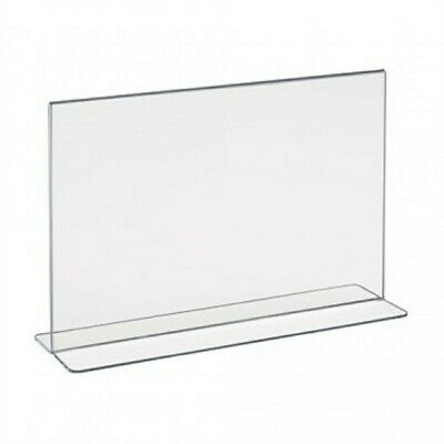 """Store Fixtures NEW ACRYLIC TWO SIDED BOTTOM LOAD SIGN HOLDER 11"""" WIDE x 7"""" TALL"""