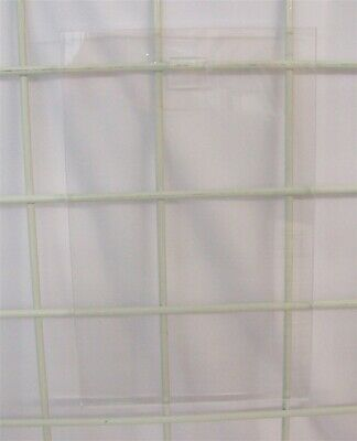 """Store Displays 2 NEW ACRYLIC GRID WALL SIGN HOLDER 7"""" WIDE x 11"""" TALL"""