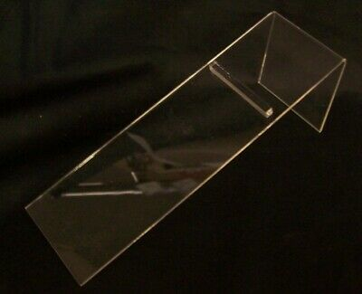 "Store Display Fixtures 3 NEW ACRYLIC SHOE DISPLAYS Heel Hold 8.75"" long"