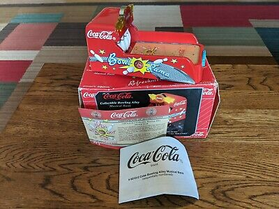 Coca Cola Coke Bowl O Rama Advertising Toy Bank Die cast collectible NOS Bowling