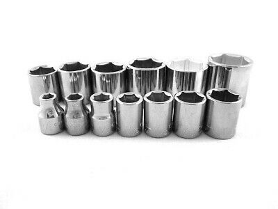 "Craftsman 13pc 3/8"" Drive SAE 6 pt Sockets Set Tools 1/4 - 1"" Point INCH Point"