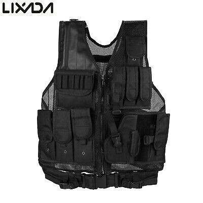 Military Tactical Vest Carrier Modular Police Molle Airsoft Assault Combat Gear