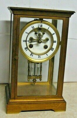 Antique Marti French Crystal Regulator Open Escapement Chime Clock Working
