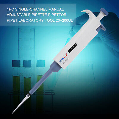 M200 Single-Channel Adjustable Pipette 20~200ul Manual Pipettor Pipet Devices