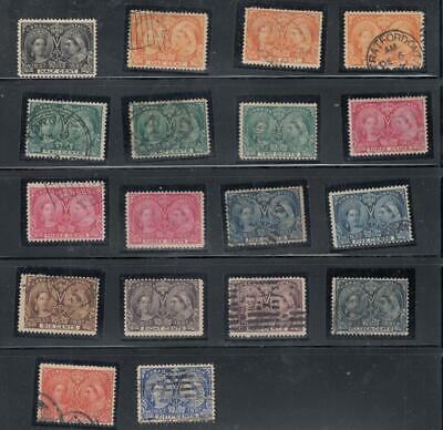CANADA # 50-60 VF/FVF/F SELECTION OF JUBILEES TO 50cts CAT VALUE $1010+