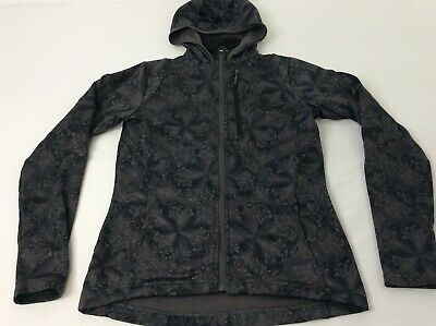 The North Face Womens XS Charcoal Gray Flowers Full Zip Hoodie Jacket Coat