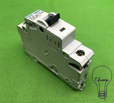 Hager NC163 MCB. Single Pole Type C 63 Amp Circuit Breaker