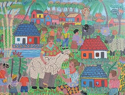 Jacques Valmidor (Haitian 20th c.) Acrylic on Canvas