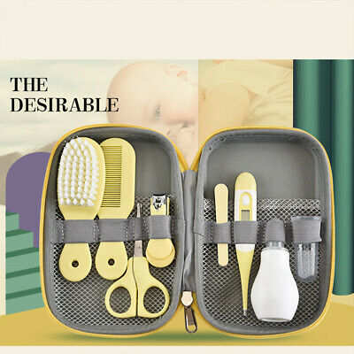 8Pc Portable Baby Care Nail Clippers Scissor Nose Cleaner Hair Brush Comb Kit UK