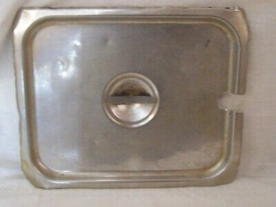 Restaurant Equipment Supplies 1/2 HALF SIZE STAINLESS STEEL LID SLOTTED