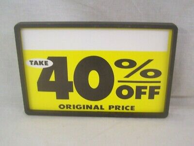 "Store Fixture Supplies 3 BLACK CLIP ON SIGN HOLDERS 7"" x 11"""