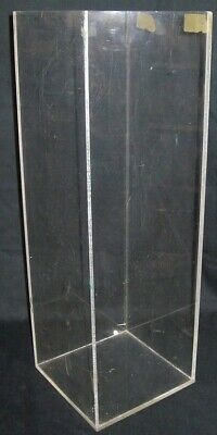 "Store Display Fixtures ACRYLIC DISPLAY TOWER 18"" tall x 6"" square"