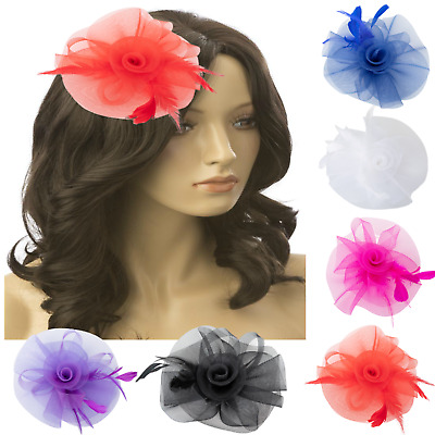 Hair fascinator Flower Feather Hair Clips Hairband and Pin weddign party