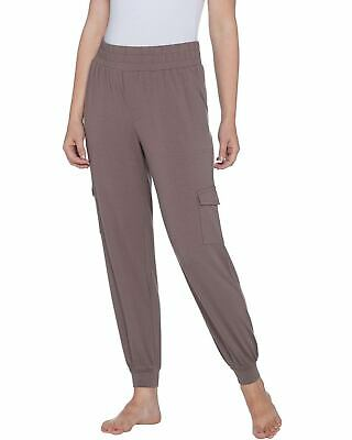 AnyBody Womens Petite Cozy Knit Cargo Jogger Pants Small Smokey Taupe A310165