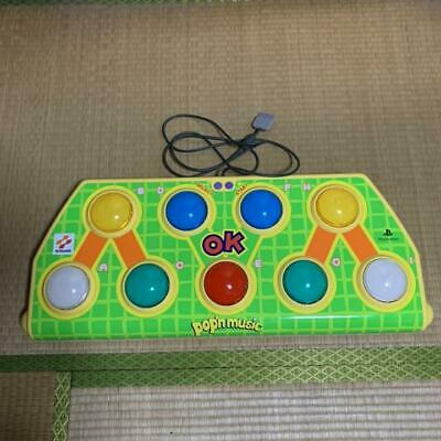 Pop'n Music Arcade Style Controller Sony Playstation PS2 PSX Used Free Shipping