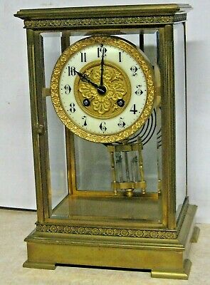 Fine Antique Marti French Crystal Regulator Chime Clock Working