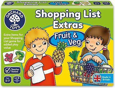Orchard Toys Shopping List Extras Pack - Fruit & Veg Game Memory And Matching