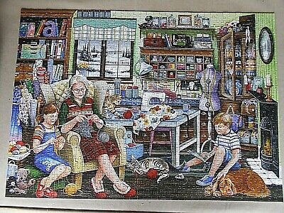 Falcon Granny's Sewing Room 1000 piece Jigsaw Puzzle