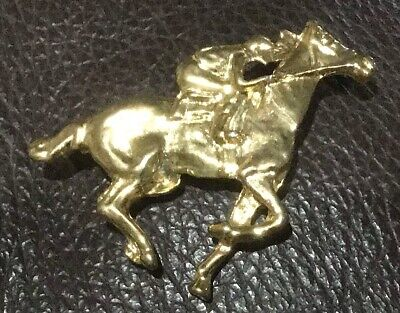 Racehorse Costume Gold Pin