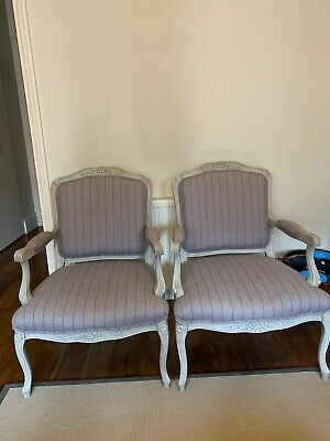 Pair of French Louis XV style Armchairs.Excellent condition. Barely used.