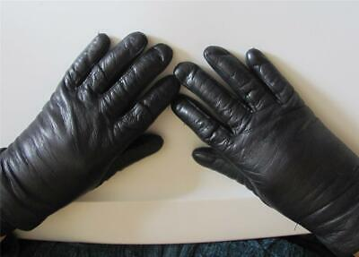 Woman's Genuine Soft Leather DRESS Driving Gloves Lined Sm. 6