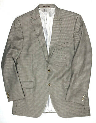 Peter Millar Mens 44T 44 Tall Blazer Sport Coat Jacket Tan Brown Wool